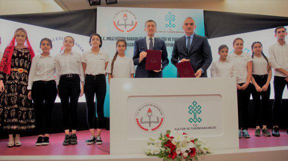 Millî Eğitim Bakanlığı ile Kültür ve Turizm Bakanlığı iş birliğinde üç ayrı protokol imzalandı
